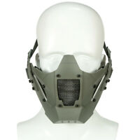 Paintball Tactical Airsoft Half Face Iron Mesh Warrior Protective Mask Grey