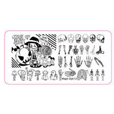 Halloween Nail Art Stamping Plates Skeleton Hand Skull Boy Nail Tool Dijit13