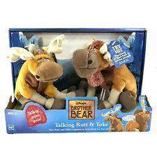 New 2003 Hasbro Disney Brother Bear Talking Rutt & Tuke Plush Tested
