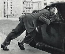 1955 Vintage 11x14 CAR MAN Street Cityscape France Photo Art By ROBERT DOISNEAU