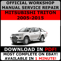 # OFFICIAL WORKSHOP Service Repair MANUAL for MITSUBISHI TRITON 2005-2015 #
