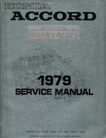 ACCORD 1979 HONDA SHOP MANUAL SERVICE REPAIR BOOK HAYNES CHILTON