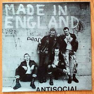 "AntiSocial – Made In England 7"" Vinyl Oi! Punk Cock Sparrer Blitz 4 Skins"