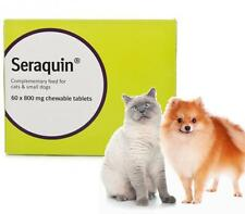 2 x 30 Seraquin Cats Small Dogs Joint Support Supplement 800mg Tablets Pain