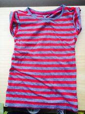 Gris y Rojo Raya Camiseta Niñas 9-10 años