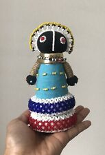 Vintage South African Ndebele Doll Tribal Handmade Long Neck Beaded 17cmTall