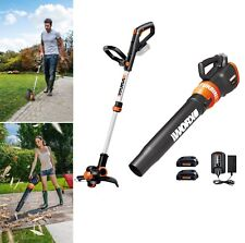 WORX 5-Piece Cordless Power Equipment Combo Kit Weedeater Blower w/ Battery NEW