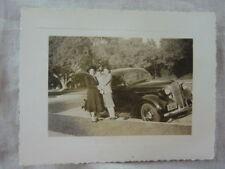 Vintage Car Photo Women w/ 1937 Plymouth 828