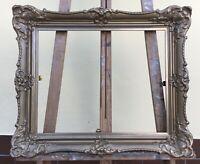 Antique Magnificent Frame Baroque Rococo Vintage Inside 20 1/8x16 1/8in Antique