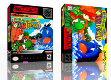 Super Mario World 2 Yoshis Island SNES Replacement Game Case Box +Cover No Game