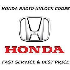 HONDA CAR STEREO CD TAPE RADIO CODE UNLOCK DECODE CIVIC JAZZ CRV ACCORD S2000