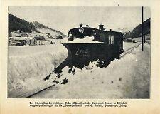 Schneepflug der rhätischen Schmalspur-Bahn *  Historische Aufnahme 1909