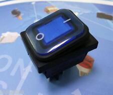 Blue Light DPST 4Pin ON/OFF IP65 Waterproof Rocker Switch 16A250VAC 3/4HP
