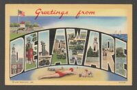 [68997] OLD LARGE LETTER POSTCARD GREETINGS from DELAWARE