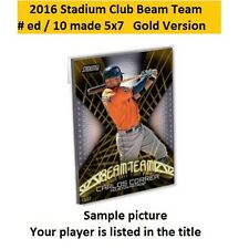MATT HARVEY #BT-15 METS 2016 Topps Stadium Club Beam Team 5X7 Gold #ed/10 made