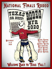 Nfr 2020 National Finals Rodeo Texas - Vintage- Rodeo Poster
