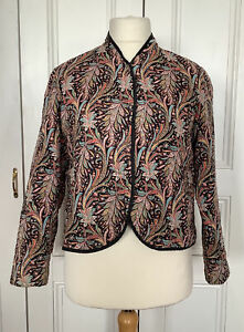 """LIBERTY LONDON QUILTED JACKET VINTAGE PAISLEY COCAIGNE PRINT 38"""" BUST"""