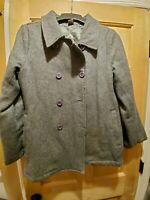*Pale Brand* Vintage Women's M Light Gray Peacoat Double-Breasted