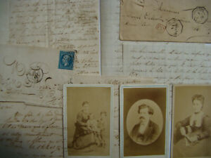 LOT LETTERS & PHOTOS 1865 - 1871 VOYAGE to SOUTH AMERICA BUENOS AIRES MONTEVIDEO