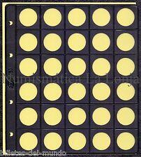 B-D-M Pack 10 hojas Pardo para monedas 30 alojamientos Ø 25 mm Mod. 75300
