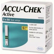 Accu Chek Active 100 Test Strips - 2 x 50 Expiry November 2020 Free Shipping