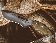 "TOPS Wind Runner Fixed Knife 3.5"" 1095HC Carbon Steel Blade Green Micarta Handle"
