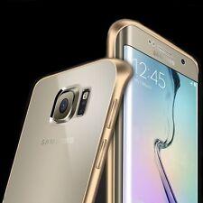 Aluminium Luxus Bumper navy blue Back Cover 2 teilig für Samsung Galaxy S6 edge