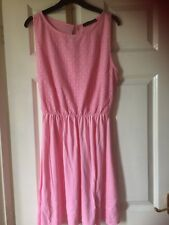 Atmosphere pink sleeveless dress,size 14,elastic waist,cotton/viscose,M?wash
