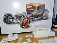 AMT '25 FORD CHOPPED TOP HOT ROD COUPE BODY,INTERIOR,2 GLASS OPTIONS,DECALS,TRIM