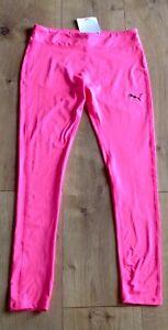 Puma Girl Leggings Size L 12-14 Pink New