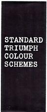 Triumph Standard Colour Trim 1964 UK Brochure Herald Vitesse Spitfire 2000 TR4