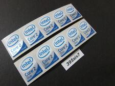 10 Pcs Core 2 Duo Sticker 19mm x 24mm - White Head Desktop Size