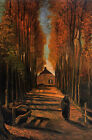 Large art Oil painting Vincent Van Gogh - Avenue of Poplars in Autumn canvas