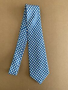 Turnbull & Asser London Hand Made 100% Silk Neck Tie Polka Dots Made in England