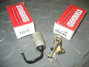 Standard Motor FD-75 Ignition Condenser & Contact Set FD8081 Ford Lincoln Merc