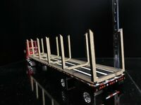1/64 Logging and Pipe Transportation Frame Rack for 53ft DCP PEM Flatbed Trailer