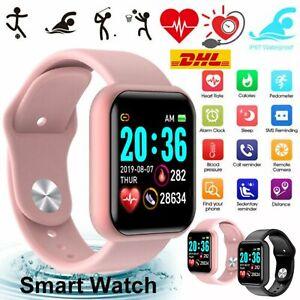 Bluetooth Smartwatch Schrittzähler Armbanduhr Sport Fitness Tracker Damen DHL