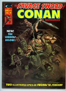 THE SAVAGE SWORD OF CONAN #6 (Marvel 1975) VF/NM condition! NO RES!