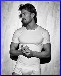 Maglia maglietta intima ENRICO COVERI da uomo 3 PEZZI intimo in cotone girocollo
