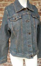 Riders Copper Large L Womens Blue Jean Denim Trucker Jacket 12 All Categories