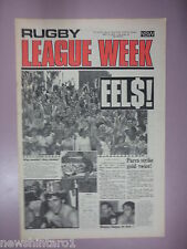 #T107. RUGBY LEAGUE WEEK NEWSPAPER 17/5 1977,  MANLY & NORTH SYDNEY CENTRE