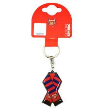 ARSENAL FC METAL BAR SCARF KEYRING KEY RINGS KEYCHAIN GUNNERS NEW GIFT XMAS