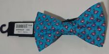 Tommy Hilfiger Blue Bow Tie Pink Flamingo Pattern Nwt