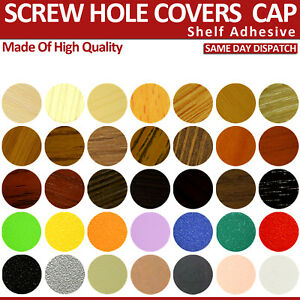 50x Various Colours Self Adhesive Screw Hole Cap Cover 50 Caps Nail Cover 14 mm
