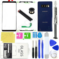 for Samsung Galaxy Note 8 N950 -Blue- Front Screen Glass Back Replacement Kit