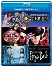 Beetlejuice Charlie and Chocolate Factory Tim Burton's Corpse Bride Blu-ray New