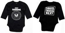Baby Ramone Slaver Hey Long Sleeve Body Organic Cotton Black