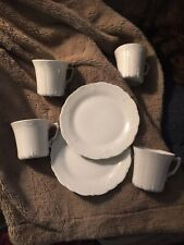 Baronesse 4 Coffee Mugs And 2 Bread And Butter Plates New Pristine