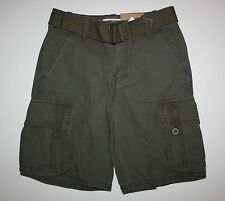 New Route 66 Canvas Dark Brown Shorts with Belt size 7 Year NWT Adjustable waist