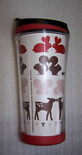 Starbucks Travel Tumbler Rabbit Squirrels Butterflies Deer 8 Ounce